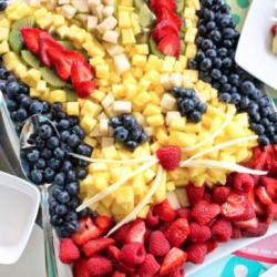 bunny fruit platter for kids easter parties