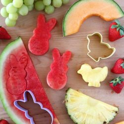 fruit shapes using cookie cutters - easter kids party ideas
