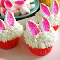 bunny cup cakes- easter kids party ideas