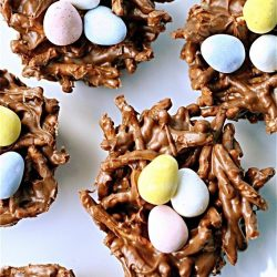 kids easter egg nests - kids party food ideas