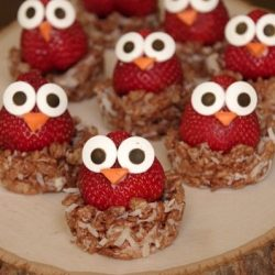 strawberry chicks - easter kids party ideas