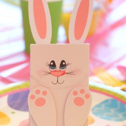 bunny easter party bags for kids parties