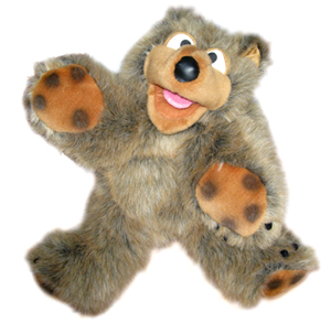 Kids Parties - puppet shows in our deluxe party package for childrens entertainers
