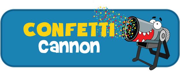 Confetti cannon party extra