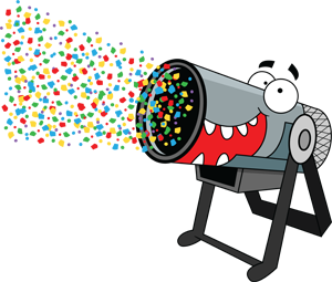 amazing kids confetti cannon for childrens parties