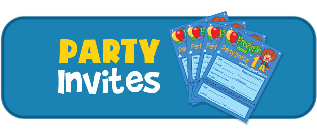 Party invites party extras