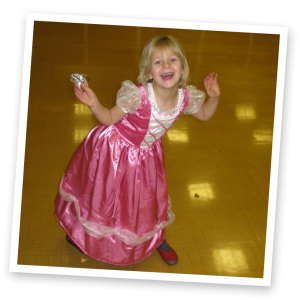 princess girl at a princess themed party